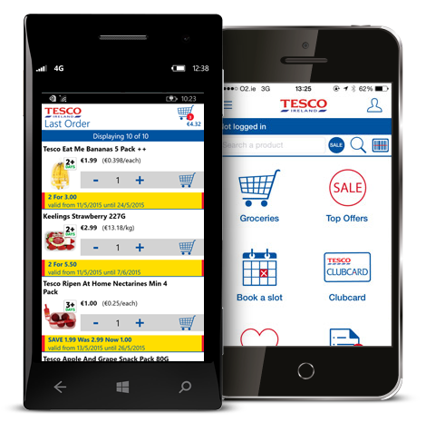 Apps & Mobile Web - Tesco ie
