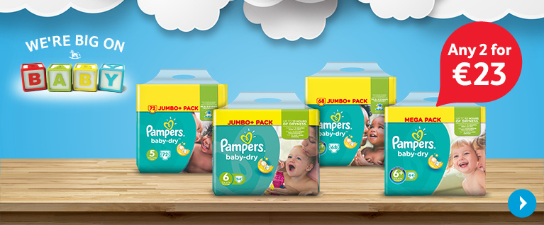 2 for 23Eur Pampers