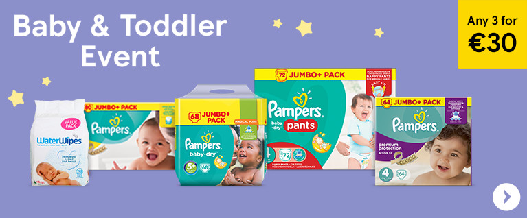Baby Event - 3 for €30 Pampers