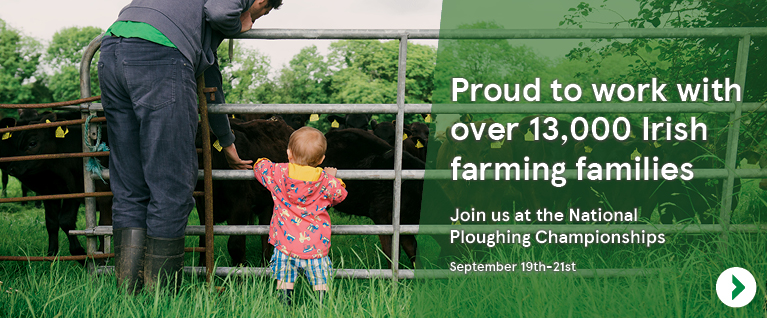 Proud to work with over 13,000 Irish farming families