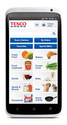 Tesco One App on the iPhone